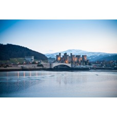 Conwy Castle In The Winter Time
