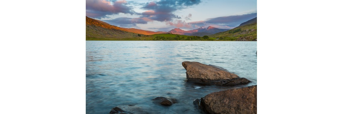 Snowdon Sunrise from Llyn Mymbr