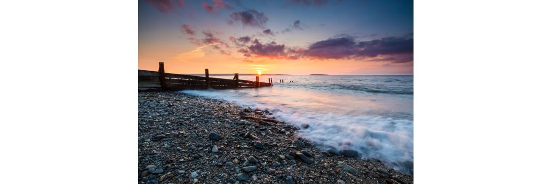 Llanfairfechan in the setting sun